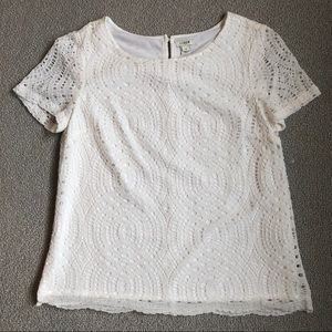 J. Crew Factory Lace Blouse Size 8